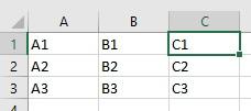 Voorbeeld gegevens bij de tip actie herhalen.